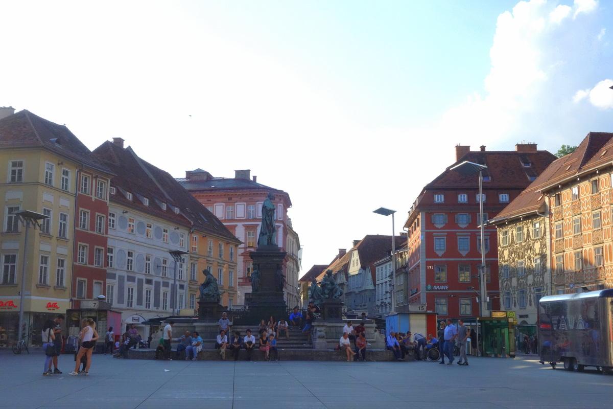 Voyage en Autriche - Graz - Place principale