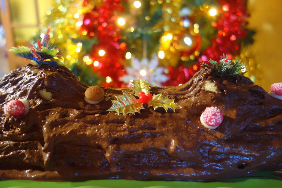 Bûche au chocolat maison