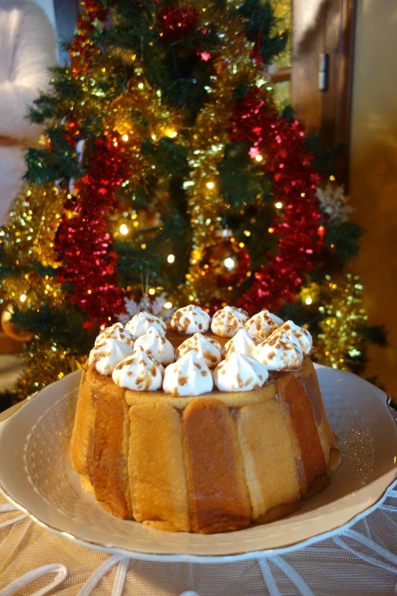 Charlotte poire-chocolat de Noël