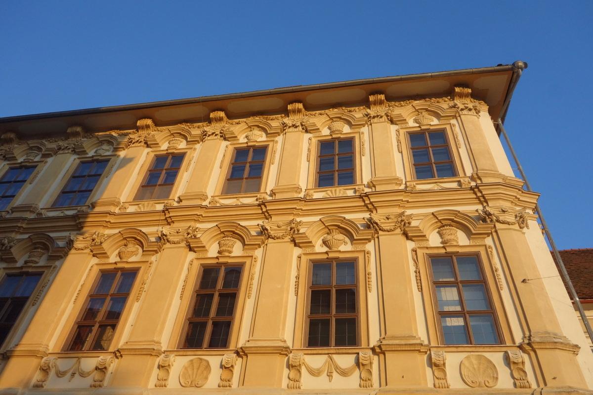 Voyage en Autriche - Graz - Façades d'immeuble typiques