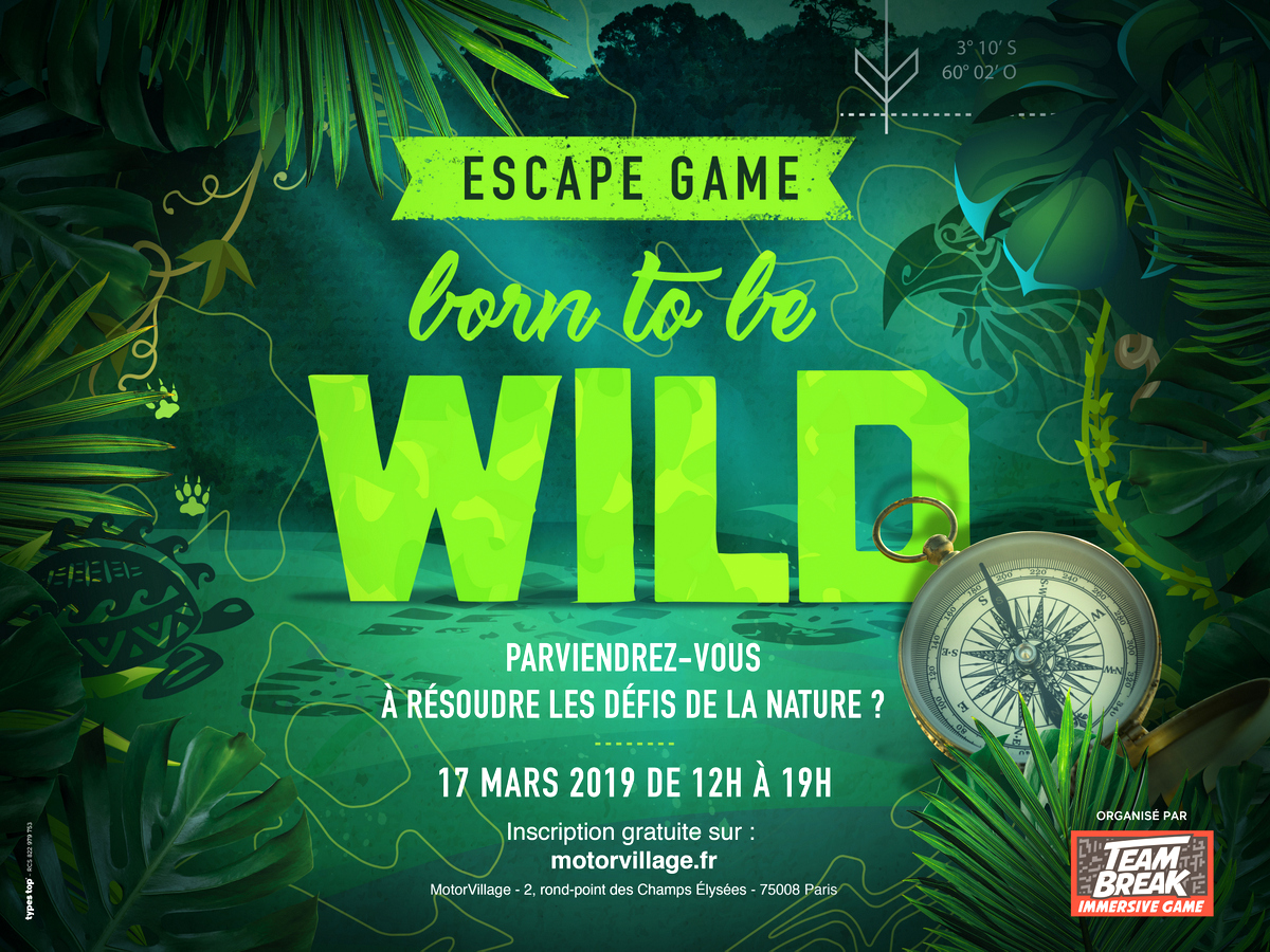 Born to be wild - Escape game événementiel du Motor village Jeep - Team break