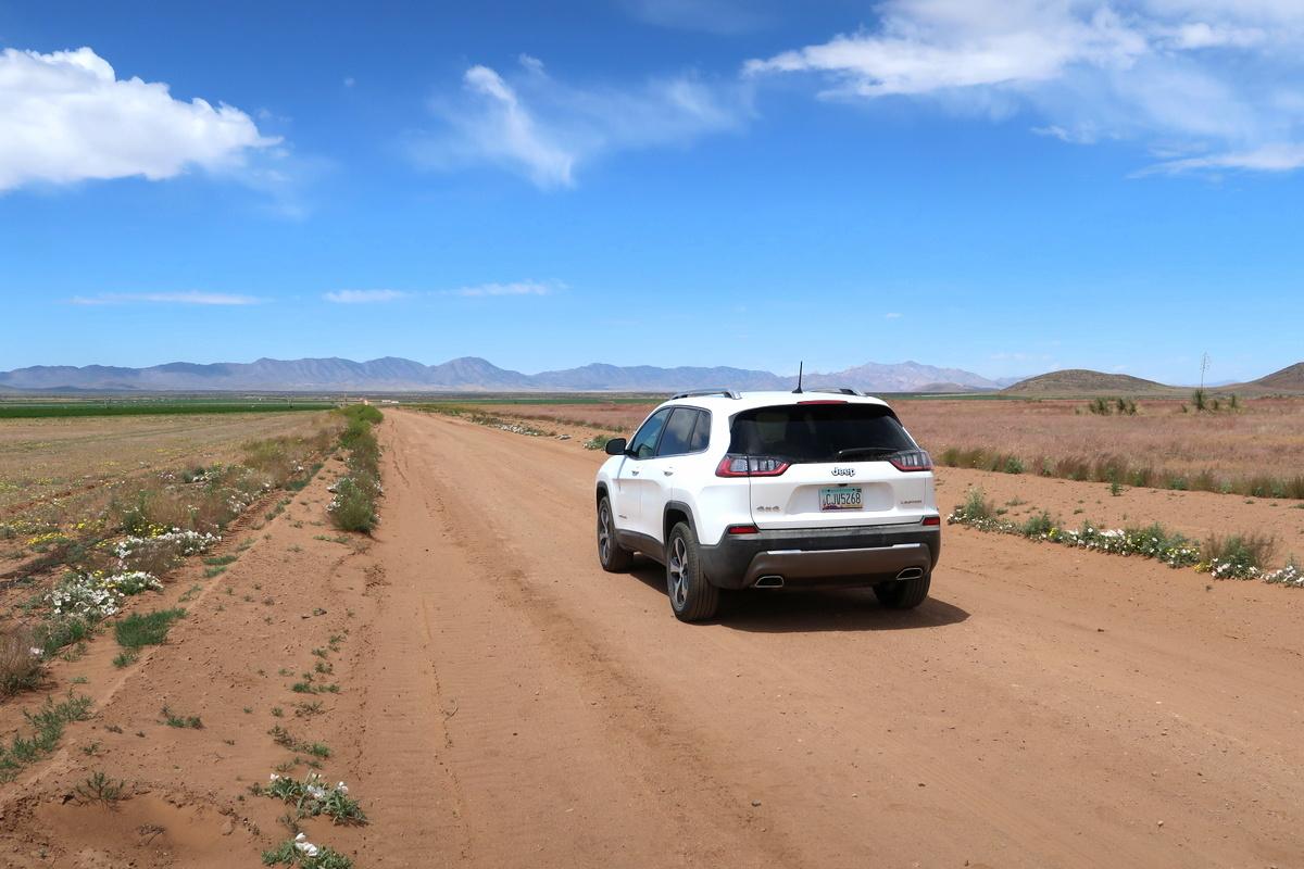 Voyage en Arizona - Location d'une Jeep chez Thrifty