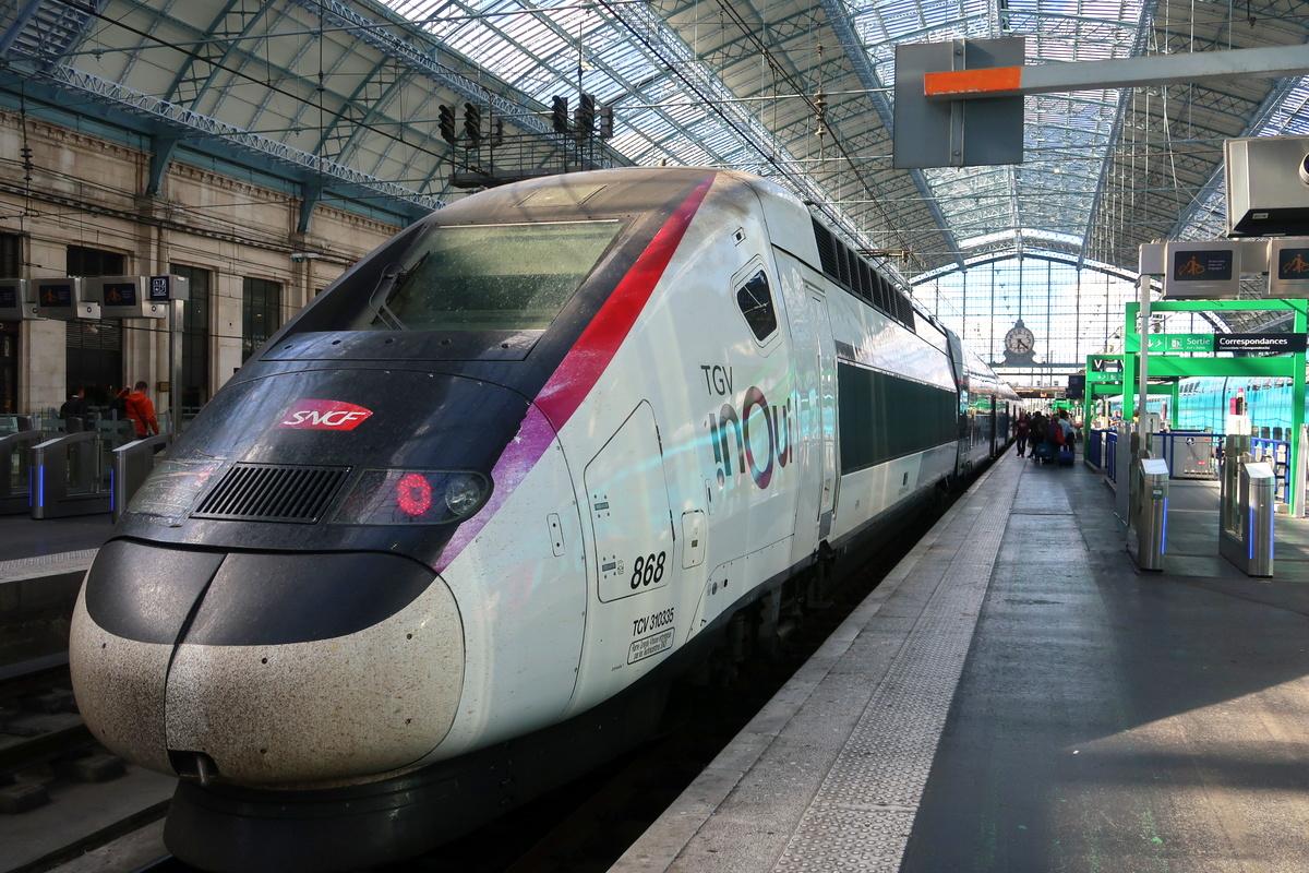 Aller-retour Paris-Bordeaux en TGV Inoui