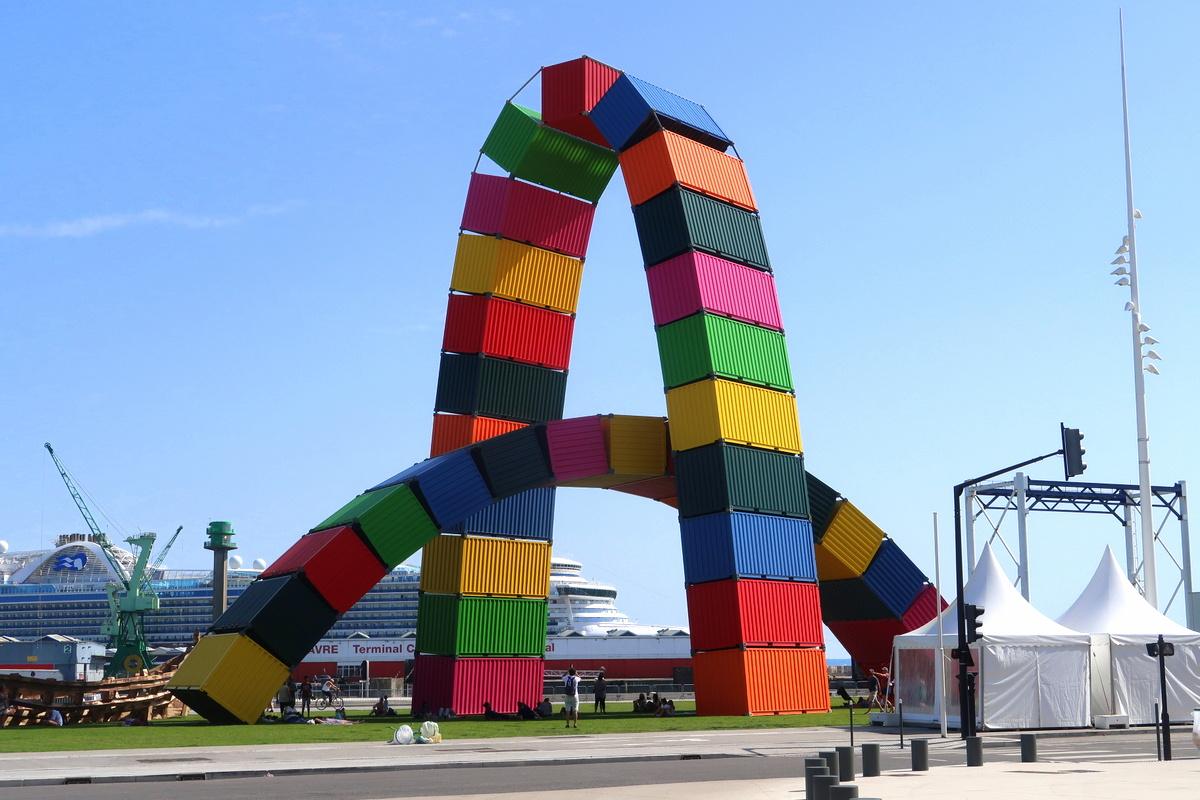 Le Havre - Catène de containers