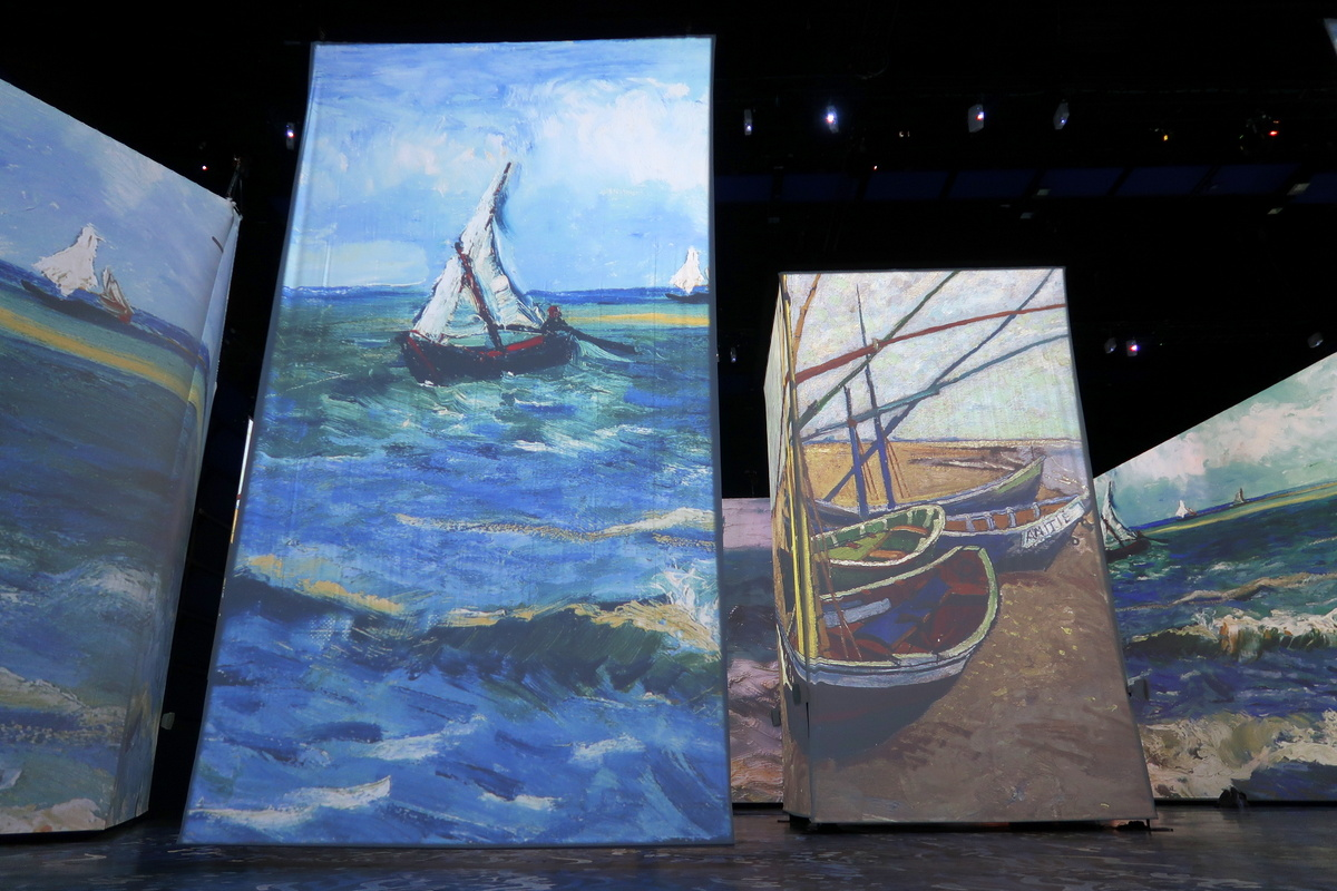 Le Havre - Carré des Docks de l'exposition Imagine Van Gogh
