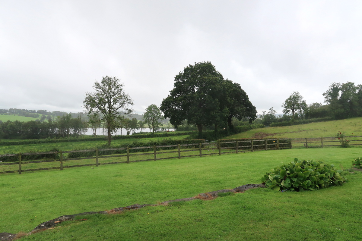 La vue depuis Laraghson house, en Irlande du Nord