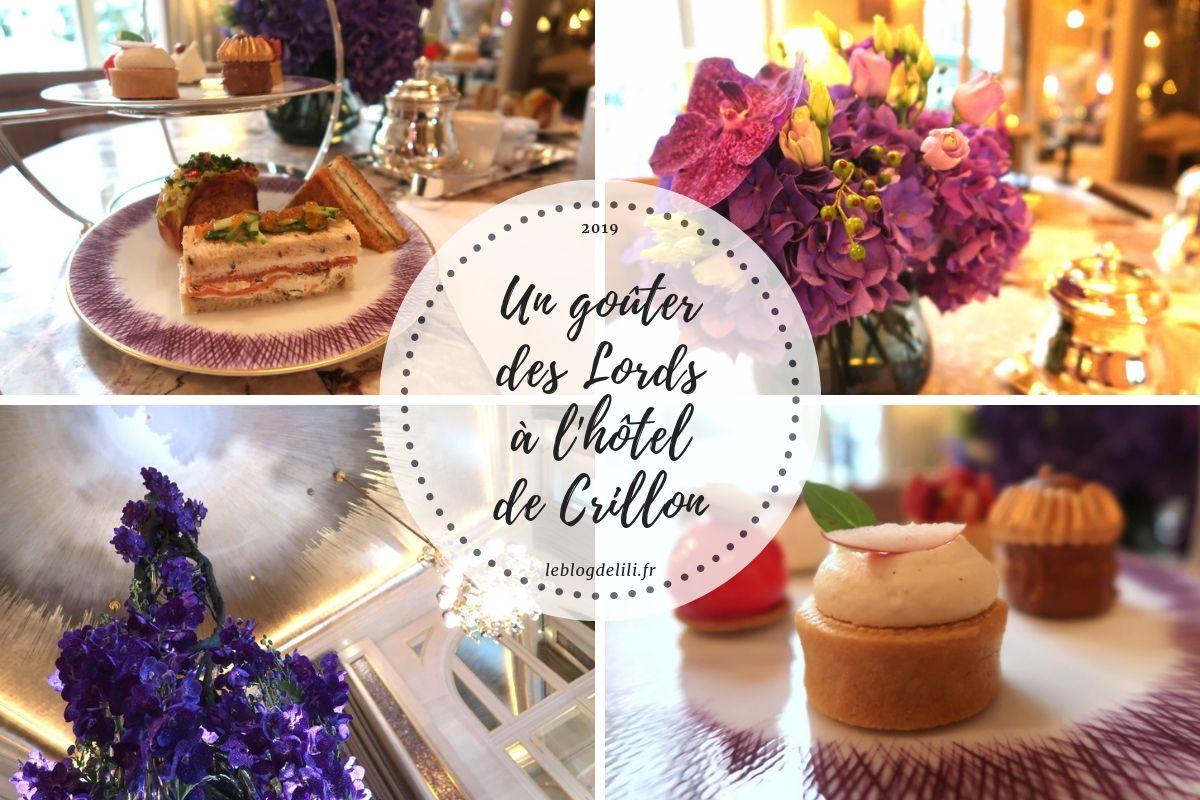 Goûter des Lords - Hôtel de Crillon
