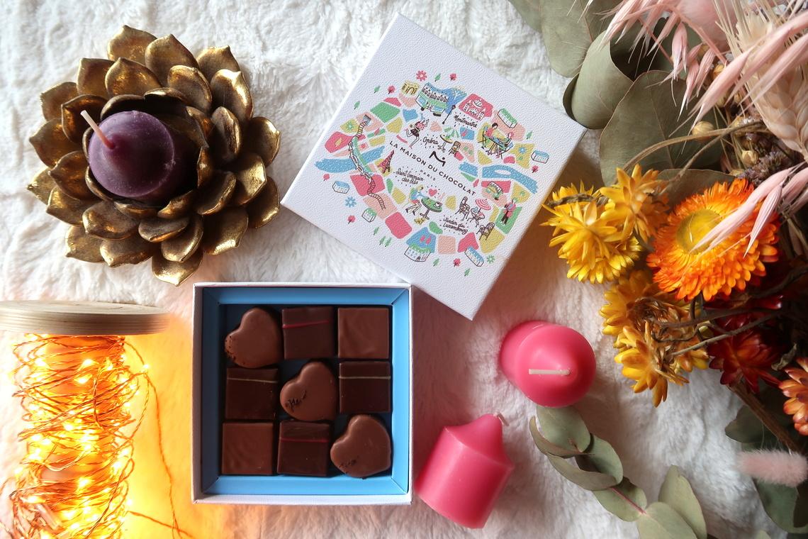 Le coffret de Saint-Valentin 2020 que la Maison du chocolat m'a offert